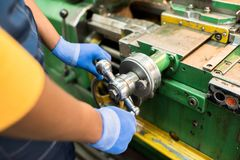Adjusting machine vice stock image