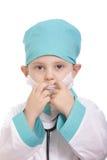 Adjusting respirator Stock Photos