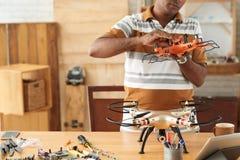 Adjusting rotors in workshop Stock Images