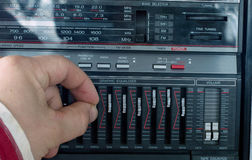 Adjusting the sound on an VCR Royalty Free Stock Images