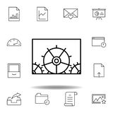 adjustment configuration gears outline icon. Detailed set of unigrid multimedia illustrations icons. Can be used for web, logo, vector illustration