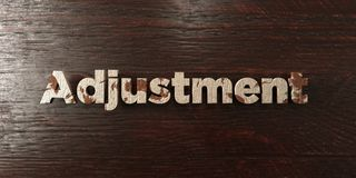 Adjustment - grungy wooden headline on Maple  - 3D rendered royalty free stock image. This image can be used for an online website banner ad or a print Royalty Free Stock Photography