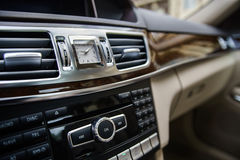 Adjustment handles in town car Royalty Free Stock Photography
