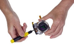 Adjustment of a  hi-tech  image sensor Stock Image