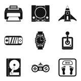 Adjustment icons set, simple style. Adjustment icons set. Simple set of 9 adjustment vector icons for web isolated on white background Stock Images