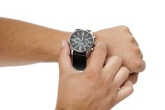 Adjustment of the watch Royalty Free Stock Photo