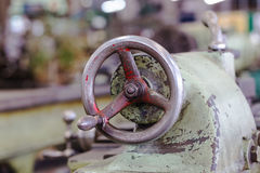 Adjustment wheel of lathe machine Stock Image
