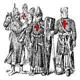 adlar templar royaltyfri illustrationer