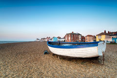 Adleburgh in Suffolk. Fishing boats on the beach at Aldeburgh on the Suffolk coast Royalty Free Stock Photography