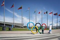 Adler-arena speed skating Stadium at XXII Winter Olympic Games Stock Photos