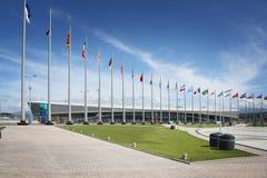 Adler-Arenaeisschnelllauf Stadion bei XXII Winterolympiade Stockbild