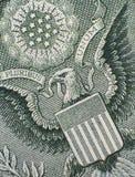 Adler auf dem Dollar Lizenzfreie Stockbilder