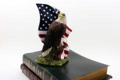 Adler auf zwei Bibeln Stockbilder