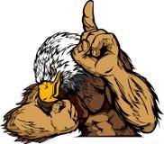 Adler-Maskottchen-Karosserien-Karikatur Lizenzfreie Stockfotografie