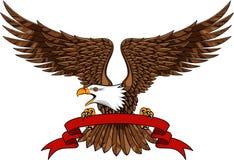 Adler mit Emblem Stockbild