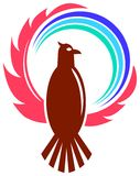 Adler mit Kugel Stockfoto
