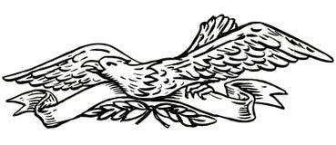 Adler mit Rolle stock abbildung