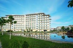 Adler, Park Russlands - 21. Mai 2017 Hotel-Sochi Adler, Krasnodar Stockfotos