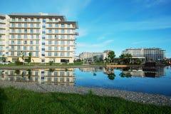 Adler, Park Russlands - 21. Mai 2017 Hotel-Sochi Adler, Krasnodar Stockbild