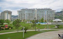 Adler, Park Russlands - 18. Mai 2017 Hotel-Sochi Adler, Krasnodar Stockfoto