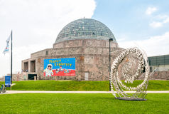 Adler Planetarium, Chicago, USA. CHICAGO, UNITED STATES - AUGUST 25, 2014: Adler Planetarium is a public museum dedicated to the study of astronomy and stock image