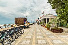 Adler embankment in Sochi. Russia stock photos