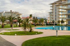 Hotel Sochi Park. Adler, Krasnodar region, Russia.  royalty free stock photo