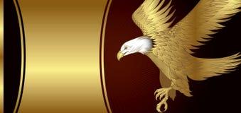 Adler-Schokoladen-Fahne Stockbild