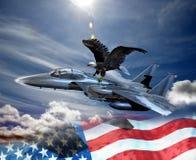 Adler und Kämpfer lizenzfreie abbildung