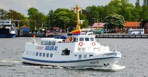 Adler XI, opérateur de bateau de croisière populaire dans le swinemunde, ahlbeck, bansin et herinhsdorf Photo stock