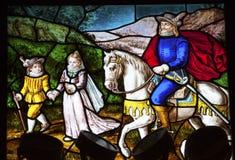 Adlig-Buntglas Convento De Santa Teresa Avila Spain lizenzfreie stockbilder