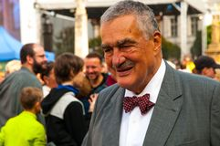 Adlig Karel Schwarzenberg, der die nationale Pilgerfahrt im alten Boleslav Czech Republic 28 besucht 9 2017 stockfotos