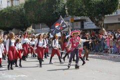 Adloyada霍隆。普珥节狂欢节。以色列 免版税库存照片