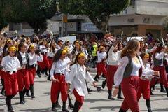 Adloyada霍隆。普珥节狂欢节。以色列 库存图片