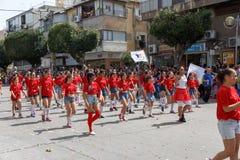 Adloyada霍隆。普珥节狂欢节。以色列 库存照片