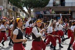 Adloyada Holon. Масленица Purim. Израиль стоковые фото