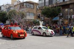 Adloyada Holon. Carnaval de Purim. Israël Images libres de droits