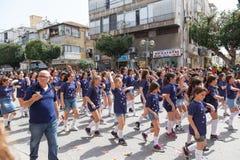 Adloyada Holon. Carnaval de Purim. Israël Photographie stock