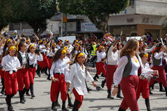 Adloyada Holon. Purim Carnaval. Israël Stock Afbeeldingen