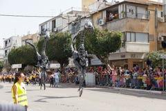 Adloyada Holon. Purim Carnaval. Israël royalty-vrije stock foto's