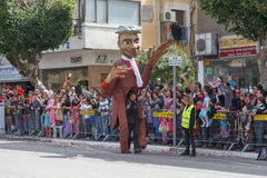 Adloyada Holon. Purim Carnaval. Israël Stock Foto