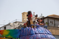 Adloyada Holon. Purim Carnaval. Israël royalty-vrije stock foto