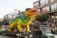 Adloyada Holon. Purim Carnaval. Israël stock fotografie