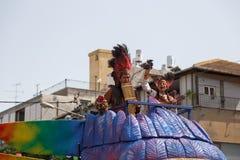 Adloyada Holon. Purim-Karneval. Israel Lizenzfreies Stockfoto
