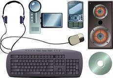 Adminículos de la tecnología Fotografía de archivo