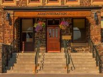 Admin Bldg Door Banff National Park Royalty Free Stock Image