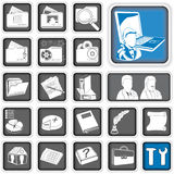 Admin icons. Royalty Free Stock Photography