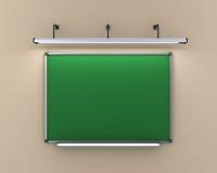A administração da escola que pendura na parede iluminou a lâmpada 3d Imagem de Stock