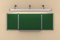 A administração da escola que pendura na parede iluminou o illustratio da lâmpada 3d Imagens de Stock
