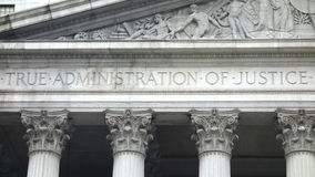 A administração da justiça verdadeira Imagem de Stock